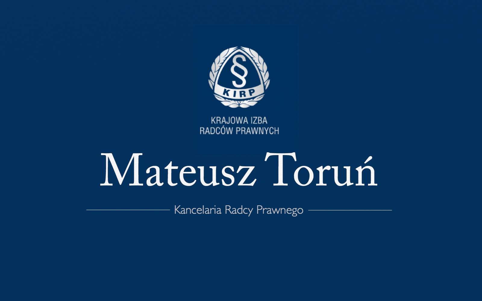 Mateusz Toruń - Radca Prawny
