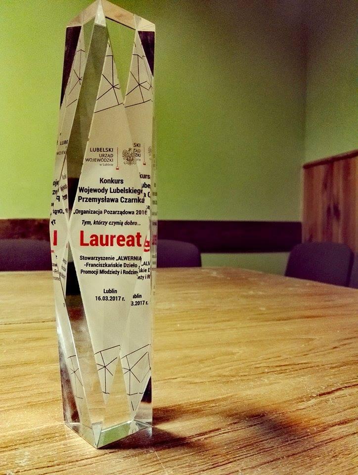 """Nagroda """"Organizacja Pozarządowa Roku 2016"""""""